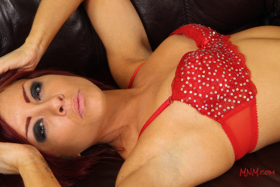 Holly Models Red Lingerie